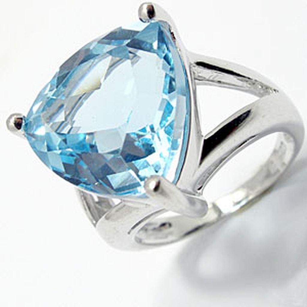 кольца с топазами в серебре