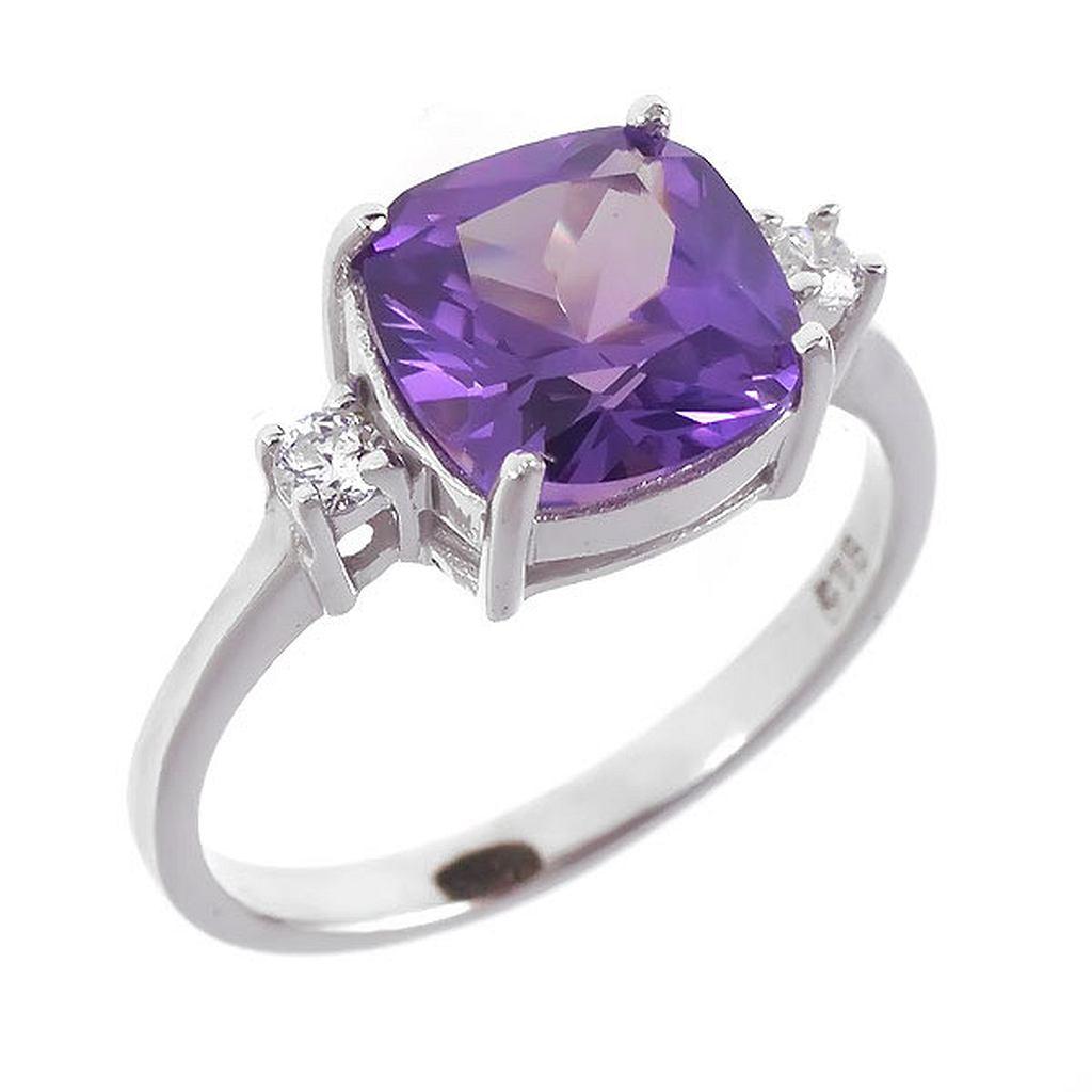 кольцо с александритом в серебре