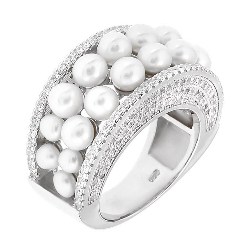 кольца с жемчугом в серебре