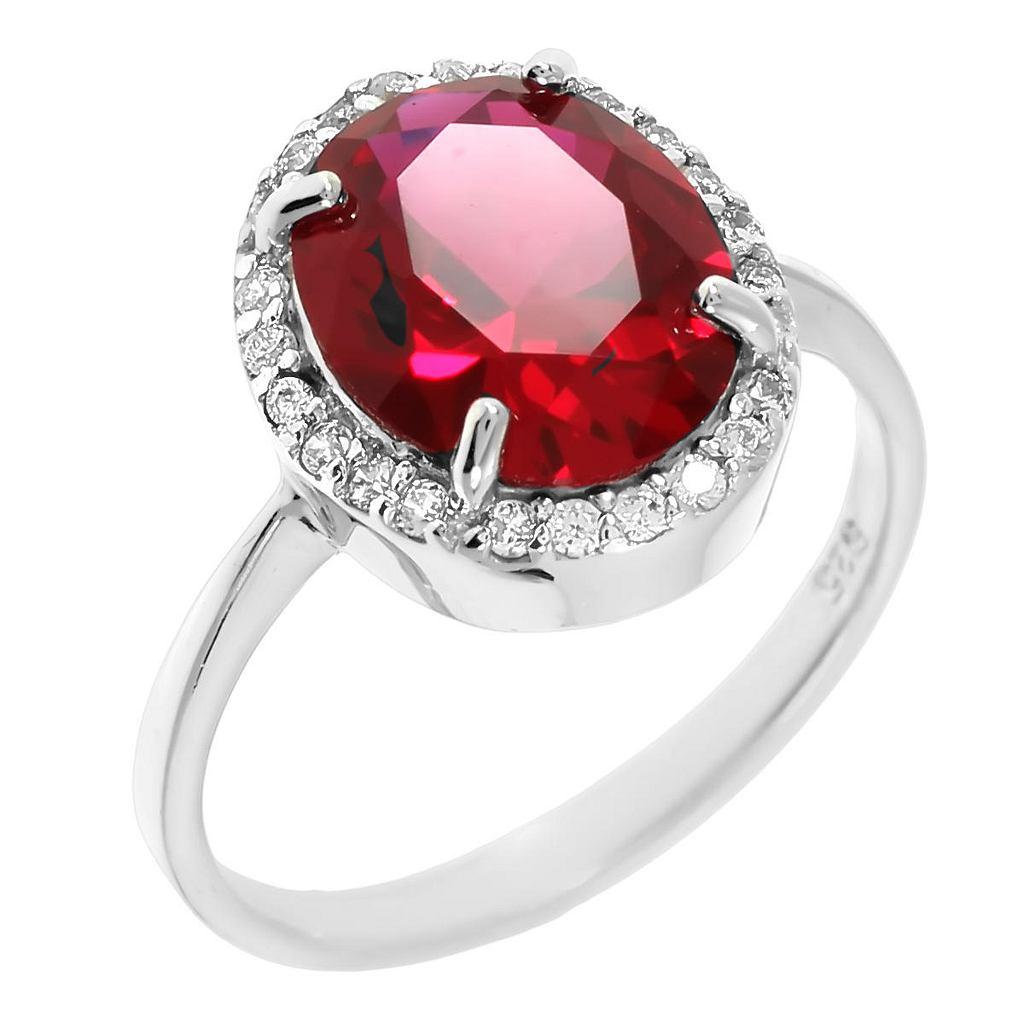 кольца с рубинами в серебре