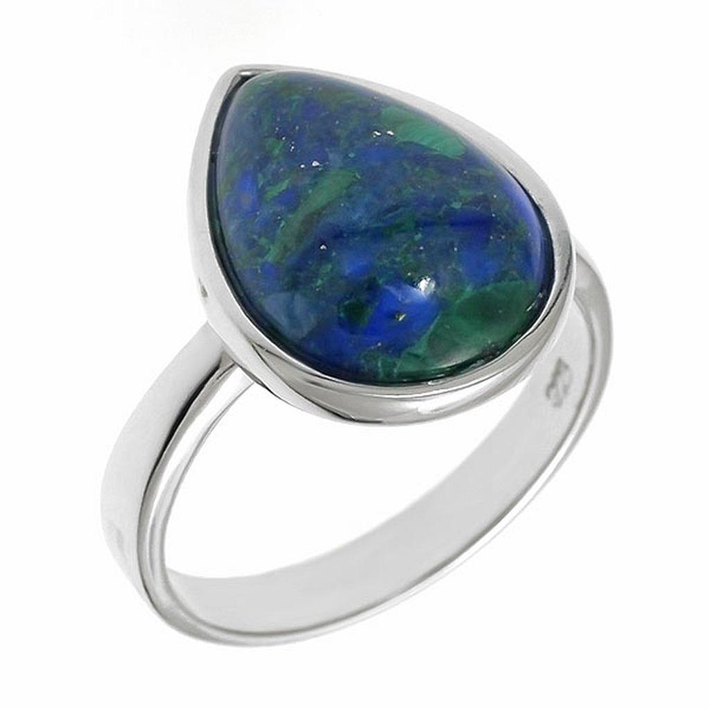 кольца с азуритами в серебре