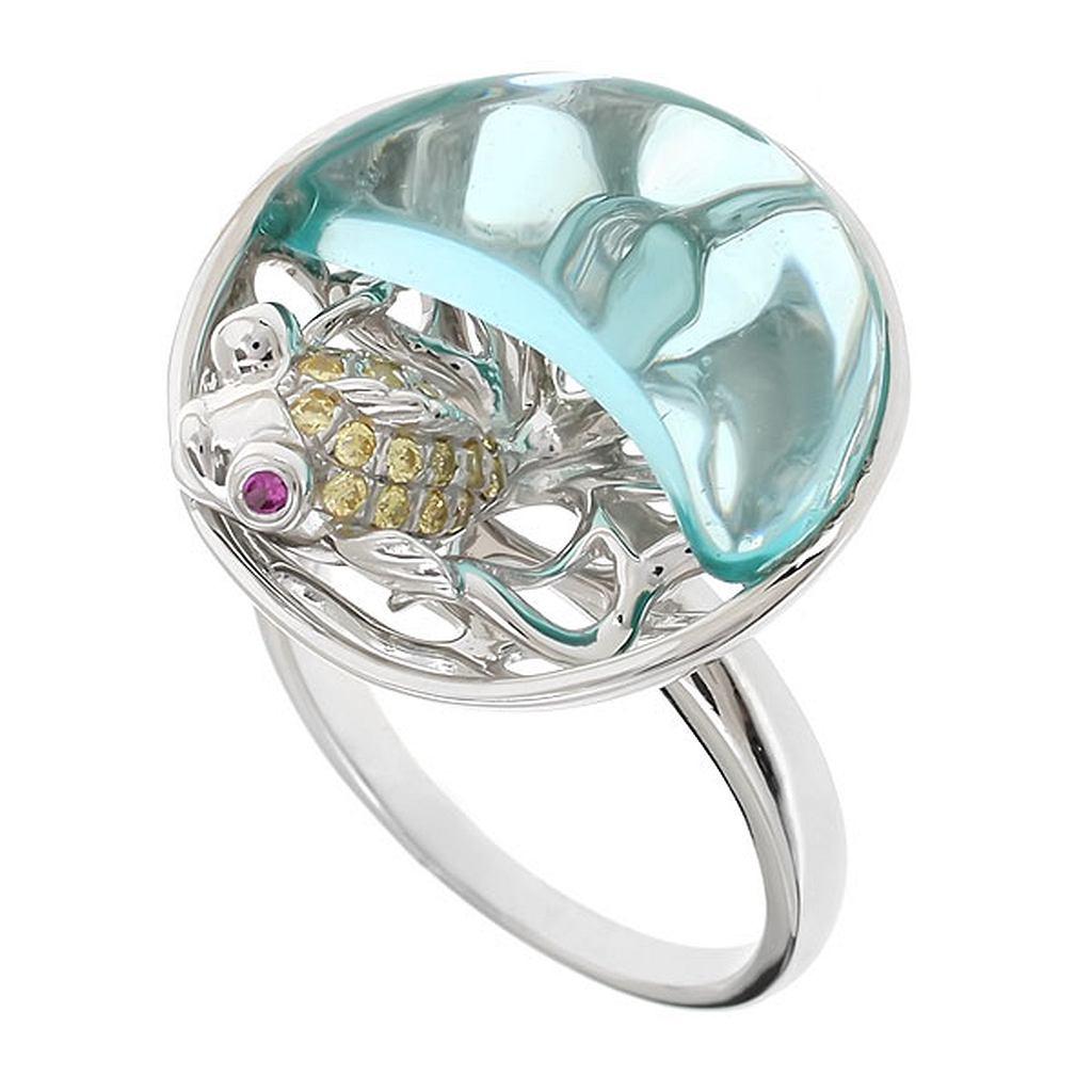 кольца с аквамаринами